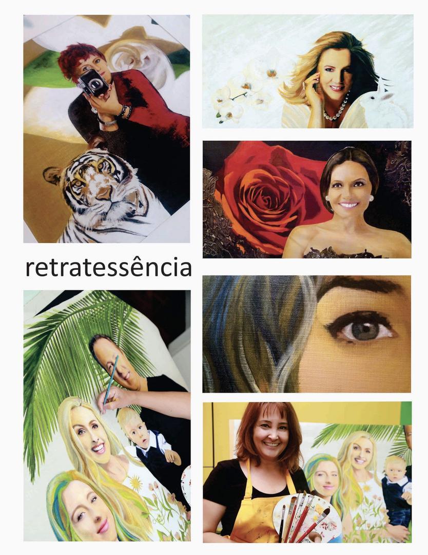 """""""Retratessência"""", da artista plástica Ana Camargo, retrata personalidades em óleo sobre tela"""